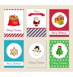 Christmas Holiday Greeting Cards Collection vector image vector image
