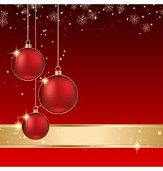 Luxury christmas background vector image
