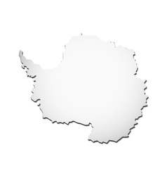 Antartica map vector image