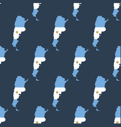 argentina map with flag pattern vector image