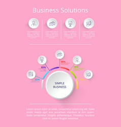 business solutions pink on vector image vector image