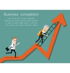Finish line success business concept cartoon vector