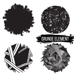 Set grunge elements Abstract backgrounds vector image
