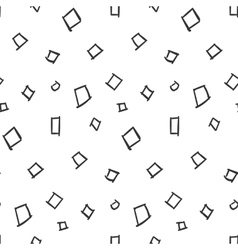 Squares Simple Seamless Pattern on White vector image vector image