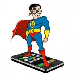 super nerd on iPhone vector image