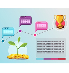 Timeline info graphic business plan vector image vector image