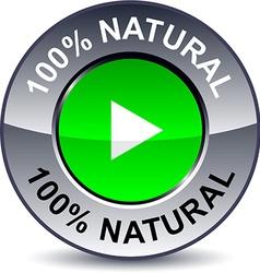 100 Natural round button vector