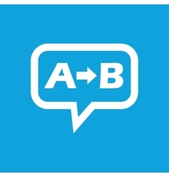 A to B message icon vector