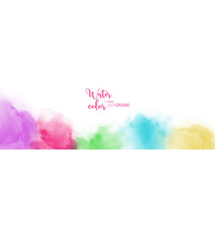 Abstract hand painted colourful watercolor vector