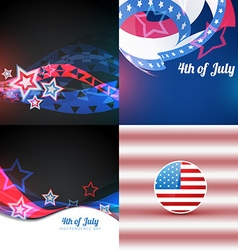 american independence day flag design design vector image