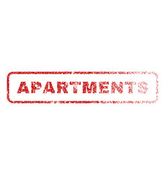 Apartments rubber stamp vector