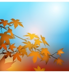 Autumn concept with Maple Leaves vector image