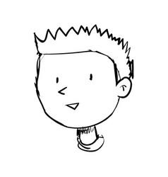 Boy doodle draw vector