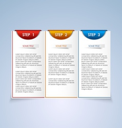 Brochure step progress design element vector