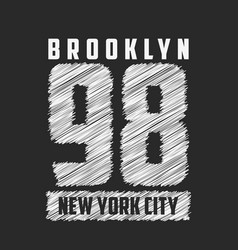 brooklyn new york city typography for design vector image