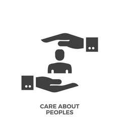 Care about peoples glyph icon vector