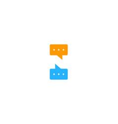 chat letter n logo icon design vector image