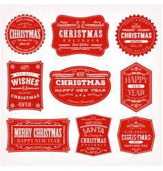 christmas frames banners and badges vector image