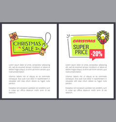christmas sale super price vector image