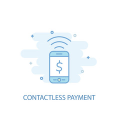 contactless payment line concept simple line icon vector image