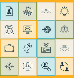 Corporate icons set collection of cooperation vector