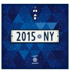 Creative New year 2015 design signboard vector