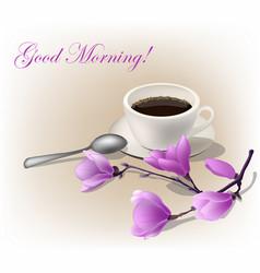 Cup coffee espresso vector