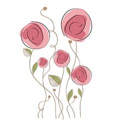 Delicate floral background vector