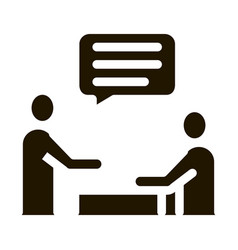 Dialogue two people icon glyph vector