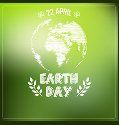 earth day of background a shape typography vector image