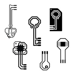 electronic circuit keys vector image