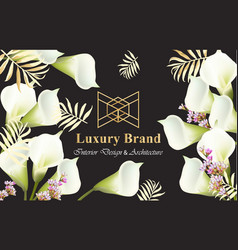 Elegant card with calla flowers vector