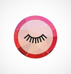 eyelash circle pink triangle background icon vector image
