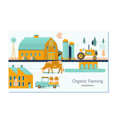 Farm agriculture and farmer rural farming and vector