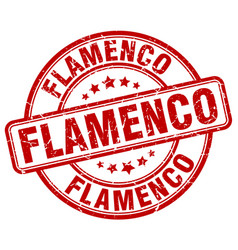 Flamenco red grunge round vintage rubber stamp vector