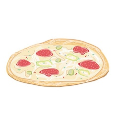 Fresh pizza vector image
