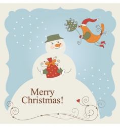 Funny snowman vector