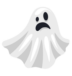 Ghost white spooky costume halloween scary flying vector