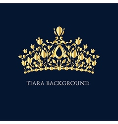 Gold tiara vector