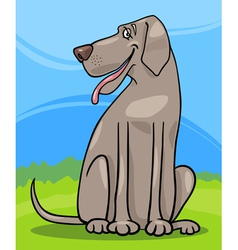 Great dane dog cartoon vector