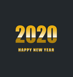 Happy new year 2020 with gradient text vector