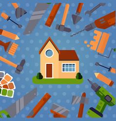home repair tools advertisement vector image