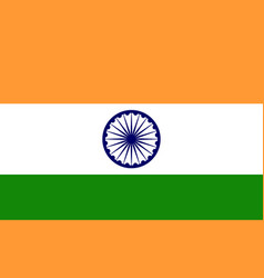 india flag indian national icon of chakra blue vector image