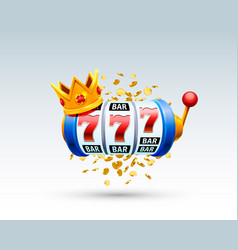 King slots 777 banner casino vector