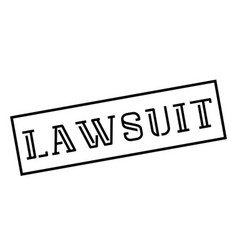 Lawsuit stamp on white background vector