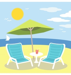 Lounge chairs vector