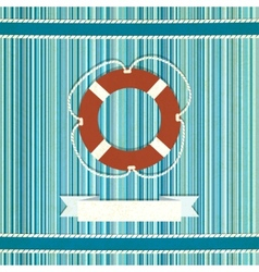 Marine striped old background vector