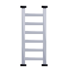 Metal ladder icon in cartoon style vector