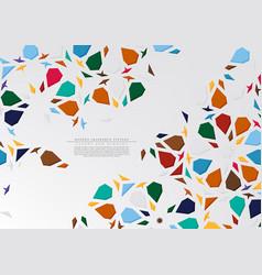 Modern arabesque hexagonal pattern colorful vector
