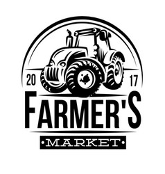 Monochrome a farmer market vector